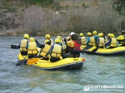 Rafting río Ara; Rutas Madrid nivel basico; senderismo madrid sierra norte